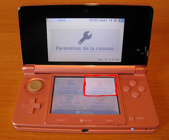 photo3 tuto code parental 3DS