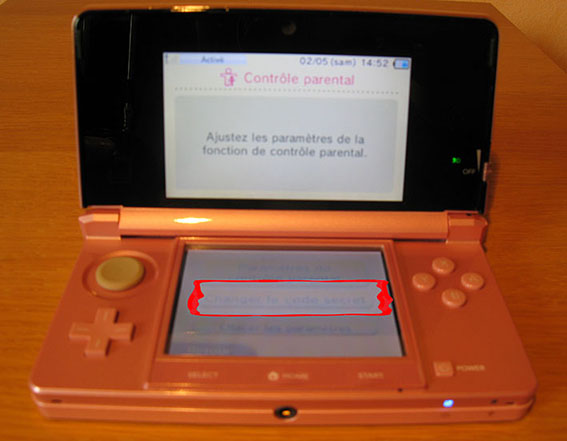 photo12 tuto code parental 3DS