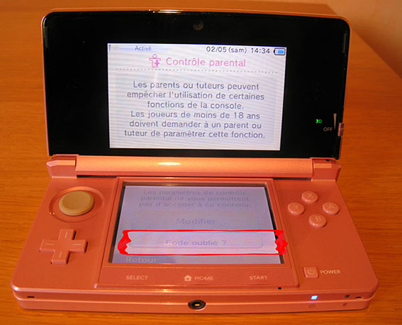 photo4 tuto code parental 3DS